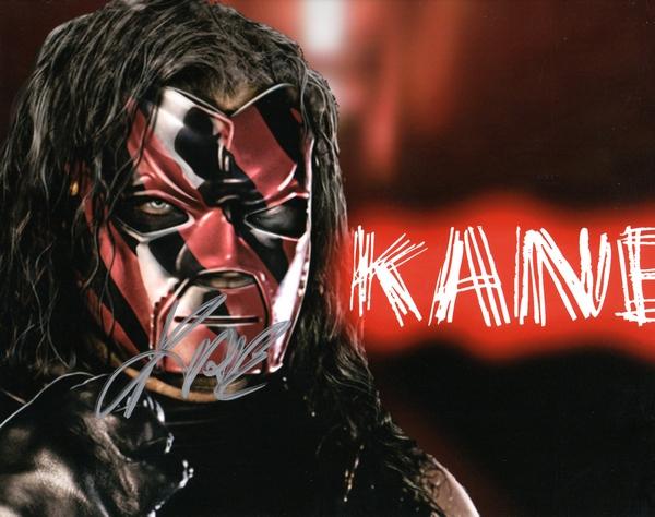 WWE Wrestler Kane Autographed 8x10 Photo