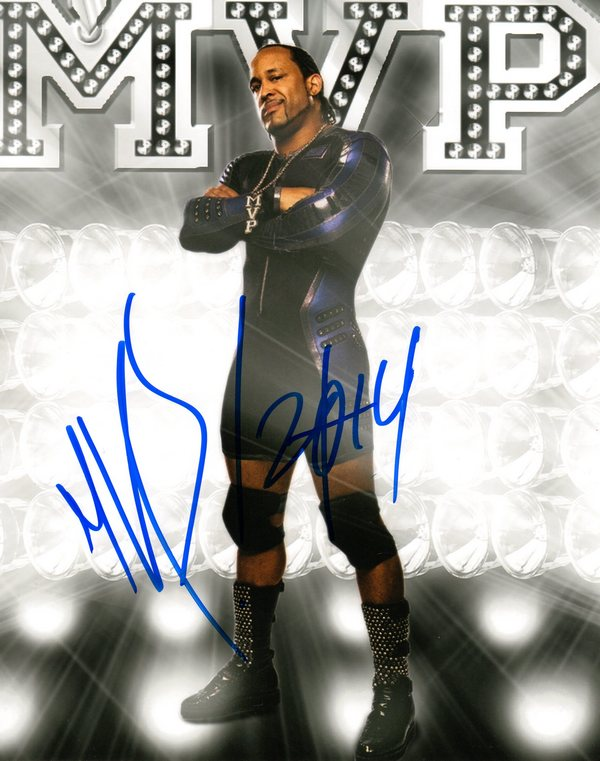 TNA Wrestler MVP Signed 8x10 Photo