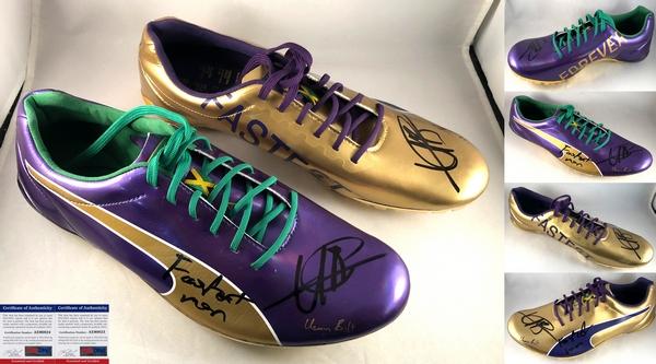 Usain Bolt Signed Puma Spike Cleat Last