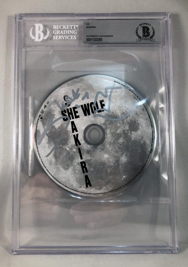 Shakira Signed CD She Wolf Beckett BAS